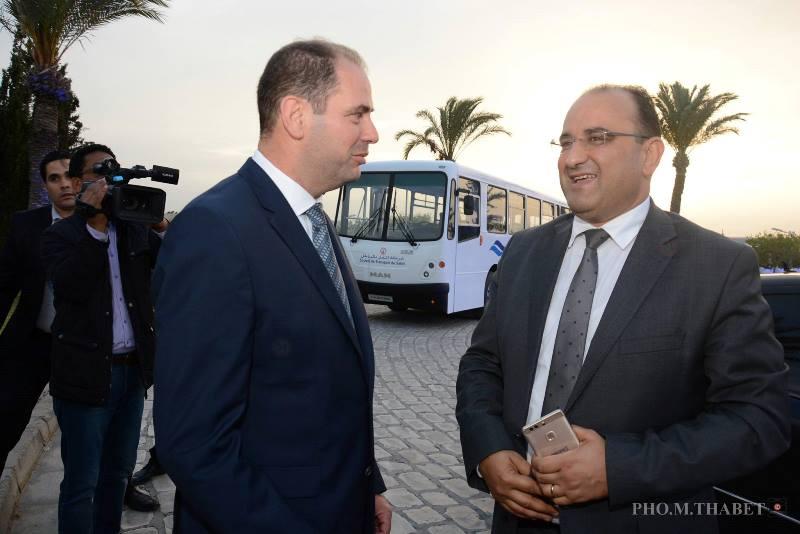 Moncef Klibi, Directeur Général d'Alpha Bus Tunisie et Anis Ghedira, Ministre du Transport