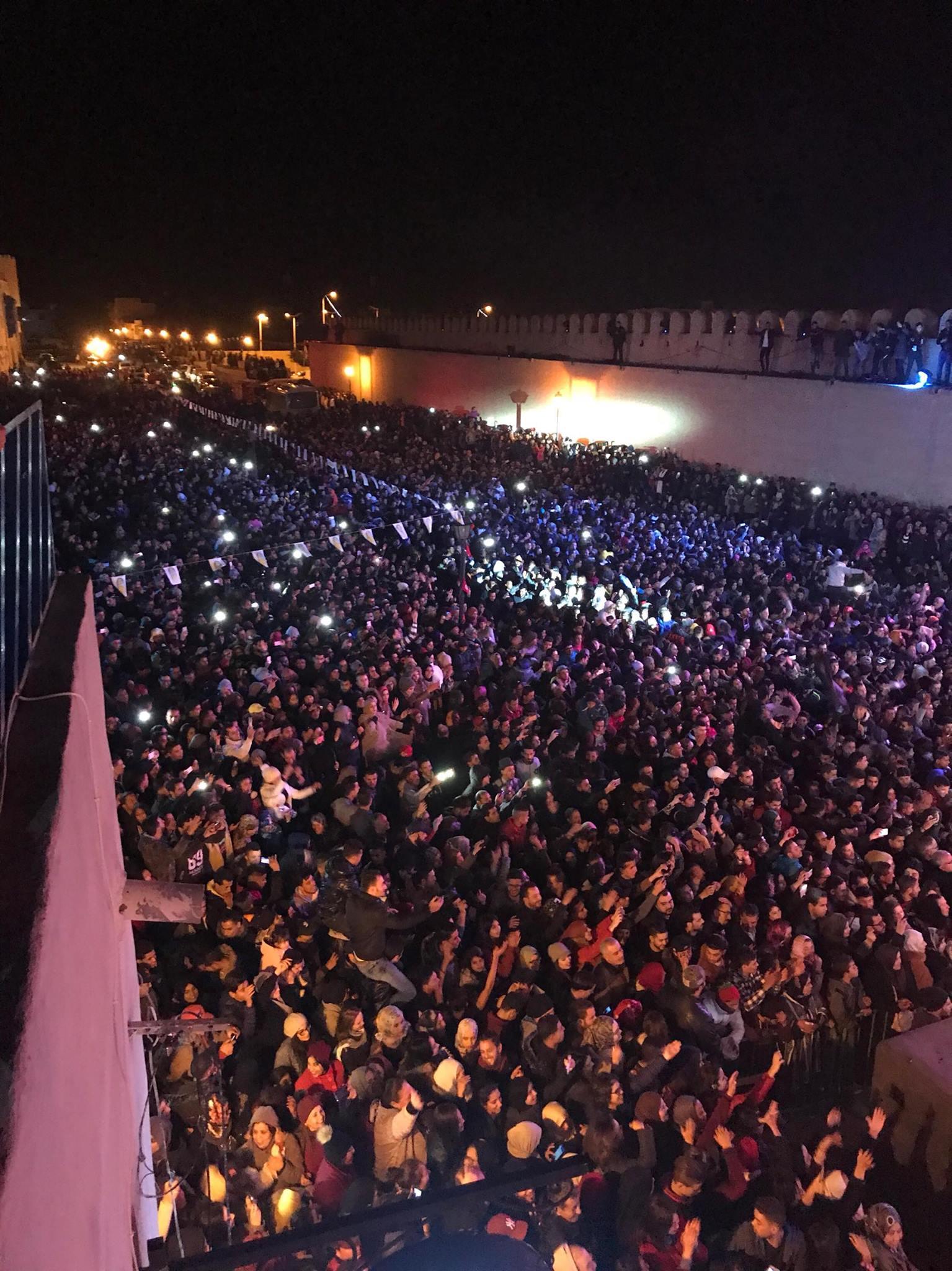 des dizaines de milliers de visiteurs venus de toutes les régions du pays et même de l'étranger