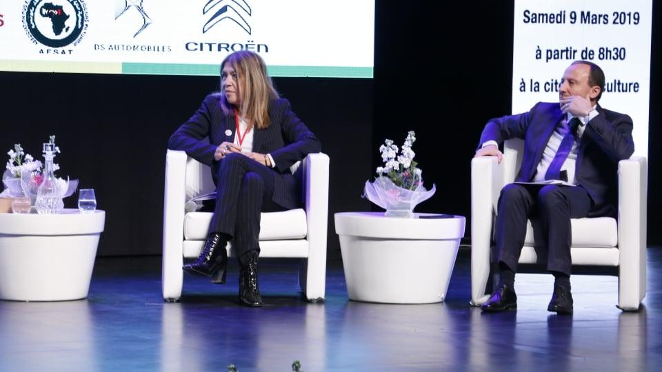 Marie-Christine Saragosse (Présidente de France Média Monde) et Bassem Loukil (Président de l'Alliance Française Tunis)