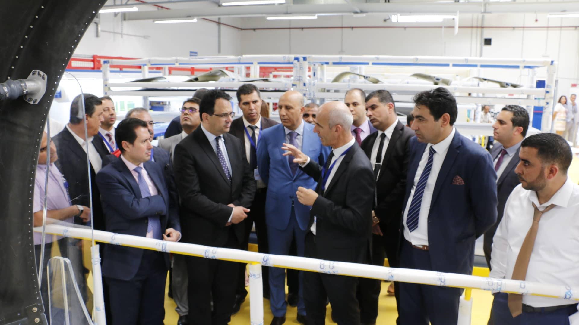 Cet événement a vu la présence du le ministre du Développement et de la Coopération internationale, Zied LADHARI, du ministre de l'Industrie et des PME Slim Feriani,  du directeur de la société Corse Composites Aéronautiques Tunisie Patrick de Lattre