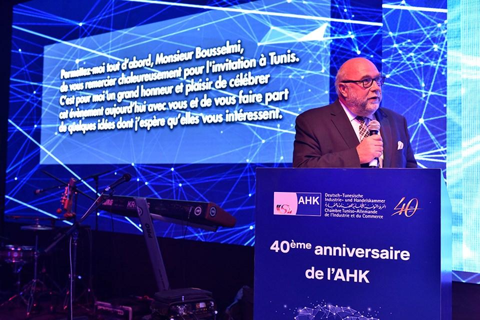 La célébration fut l'occasion de faire une rétrospective sur les 40 ans de partenariat tuniso-allemand
