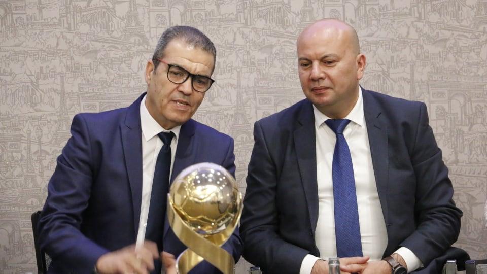 Mourad Mestiri, Président de la Fédération Tunisienne de Handball et Chokri Dridi, Directeur Commercial et Marketing d'OLA Energy Tunisie