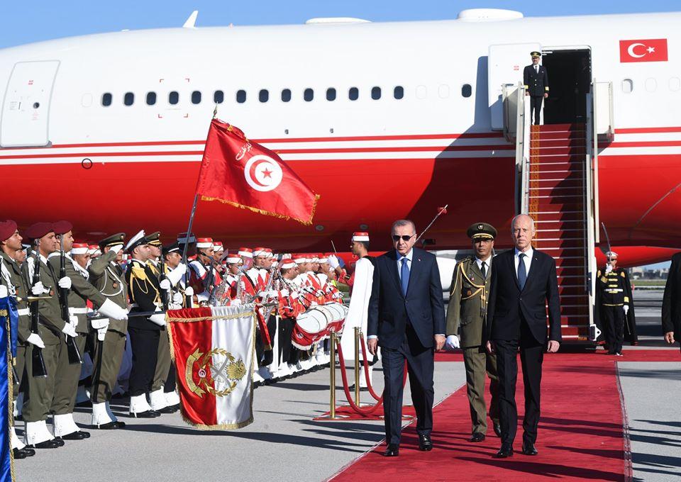 Le président turc Recep Tayyip Erdogan est arrivé, mercredi, à Tunis matin à Tunis pour une visite de travail d'une journée