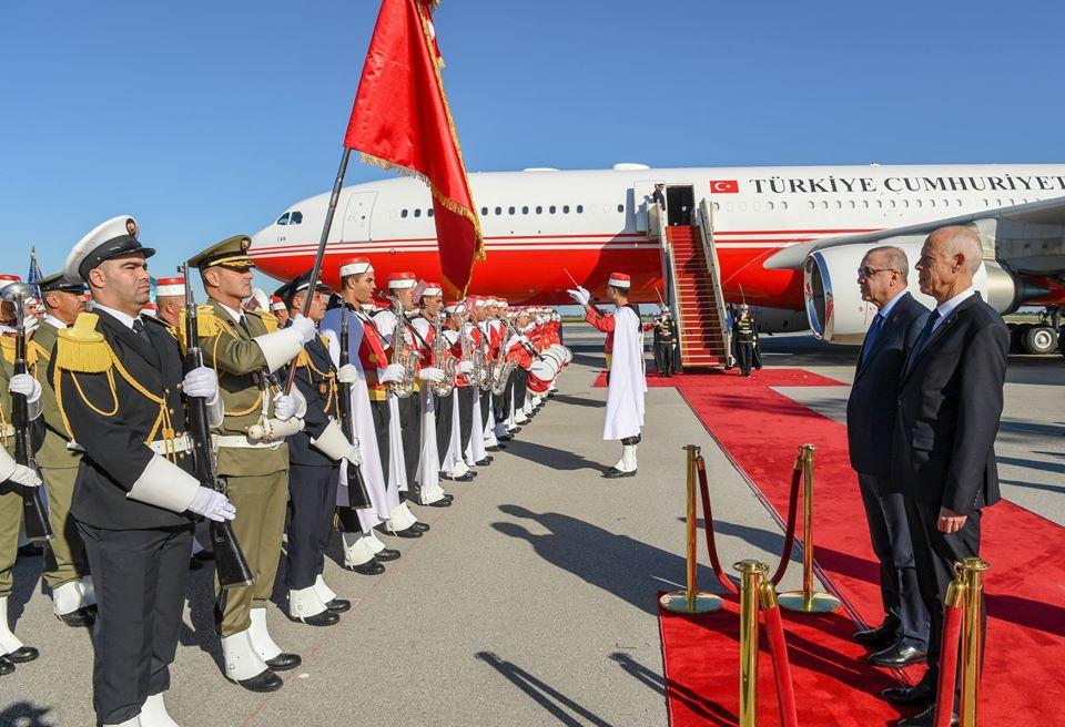 Le président Erdogan en Tunisie pour une visite de travail
