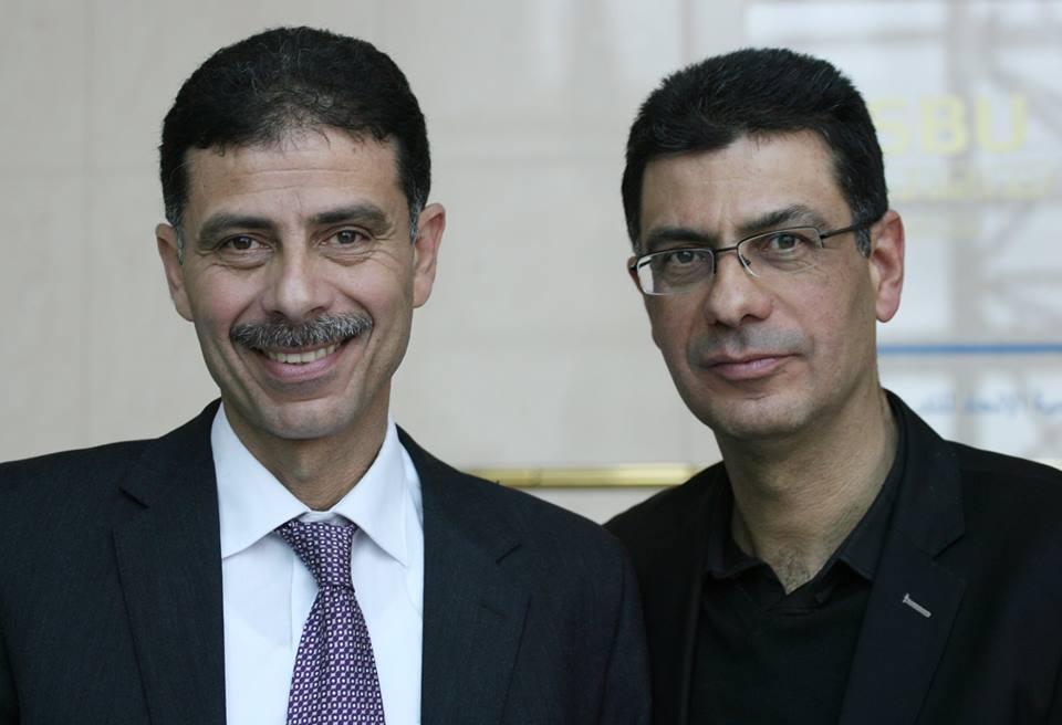 Adnen Ben Mrad, président de l'association des journalistes sportifs Tunisiens et Kais Ben Mrad, Secrétaire Général de la Fédération des Directeurs de Journaux