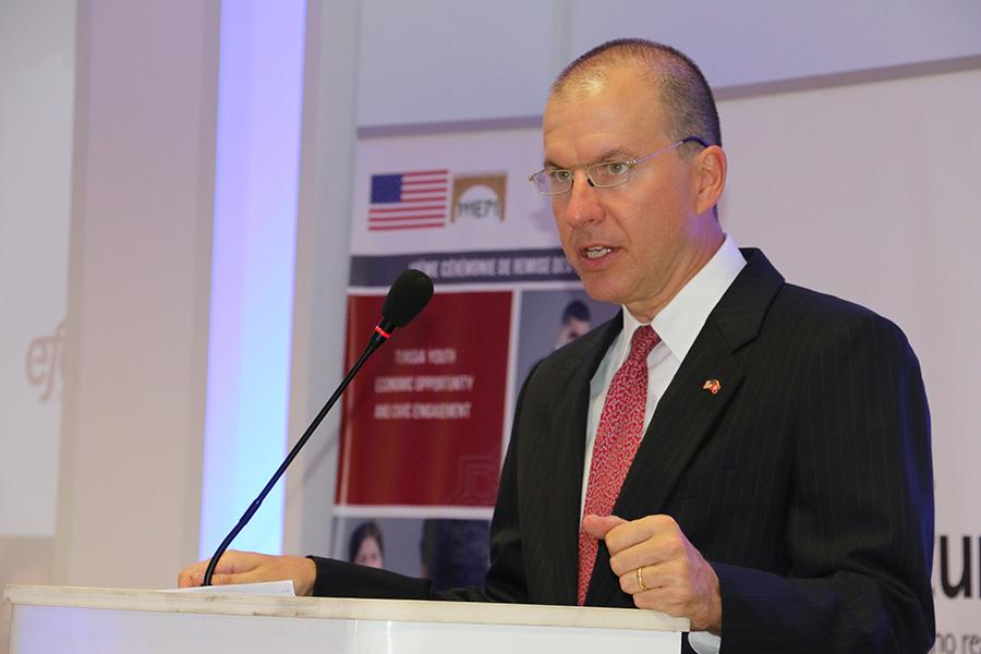 Benjamin Moeling, Chargé d'Affaires de l'Ambassade des Etats Unis d'Amérique en Tunisie