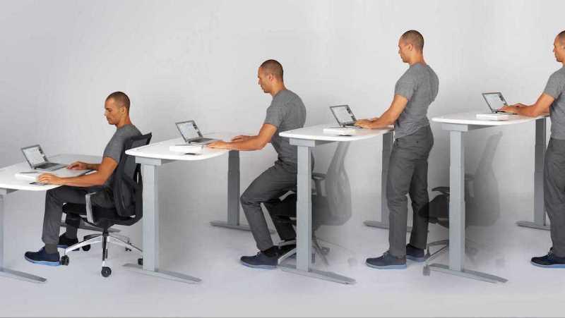 Meubles intérieurs commercialise des bureaux assis debout pour la