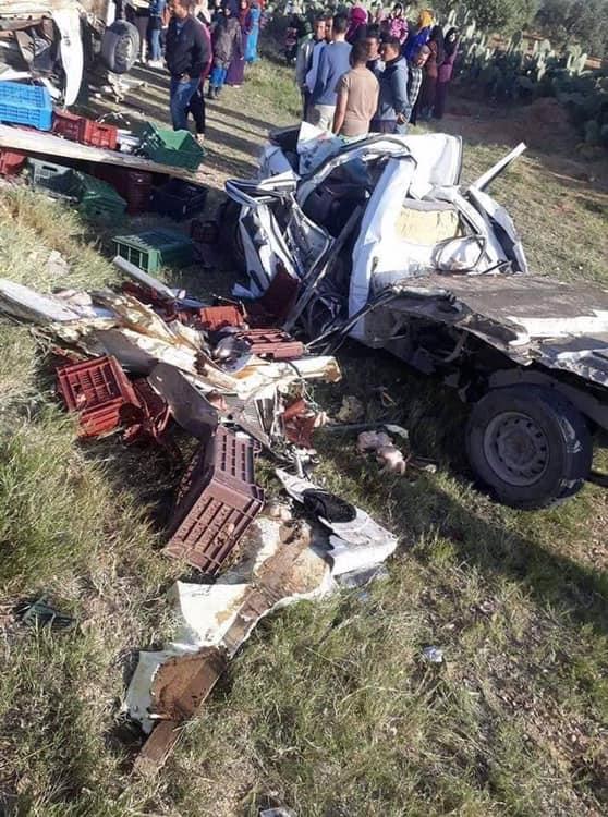 La délégation de Sabala dans le gouvernorat de Sidi Bouzid s'est réveillée ce matin sur un accident atroce