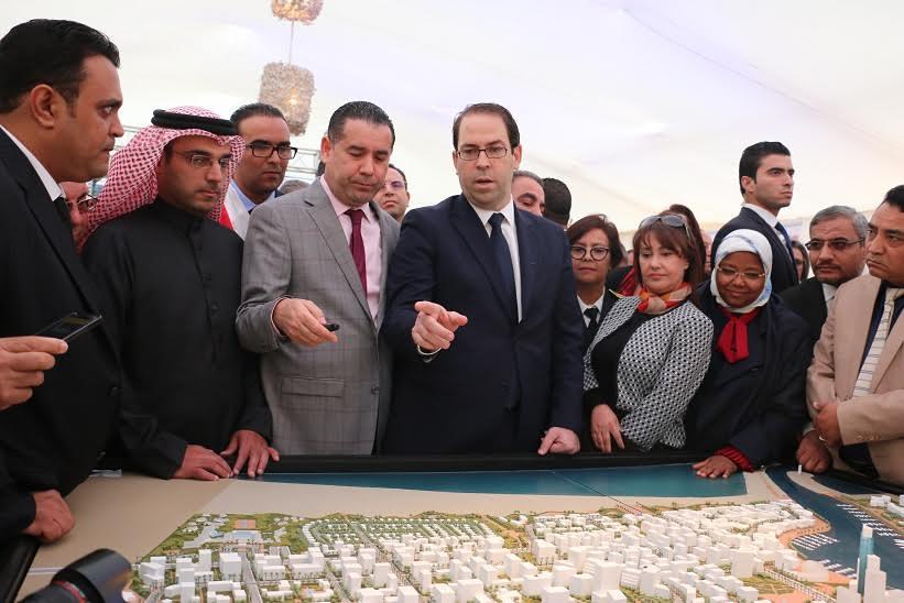 youssef chahed donne le coup d envoi au m gaprojet du port financier de tunis. Black Bedroom Furniture Sets. Home Design Ideas