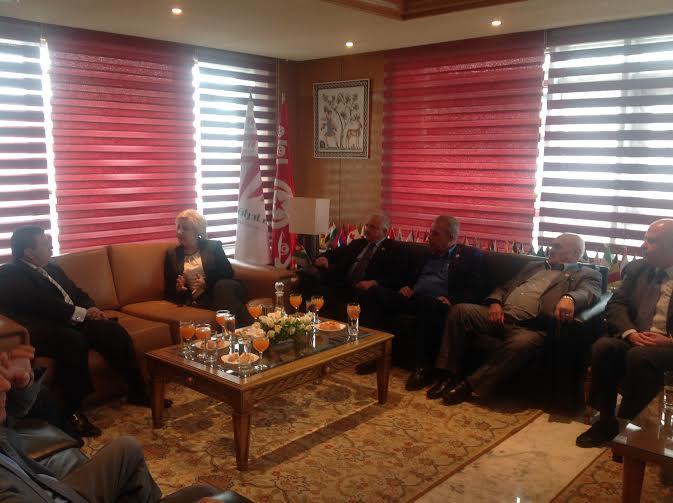 Une d l gation jordanienne au cepex for Chambre de commerce tunisienne