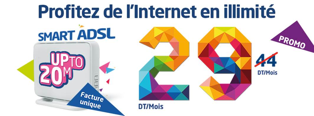 Avec le « SMART ADSL Up to 20 M », de Tunisie  Telecom, restez FIXE !