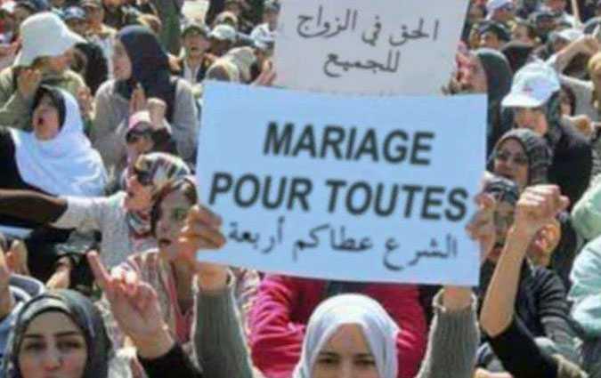 Manifestation pour la légalisation de la polygamie, un fake ?
