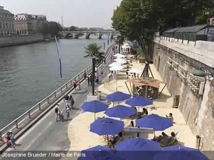 Les villes de tunis et de sousse l honneur sur paris plages - Piscine plage paris asnieres sur seine ...