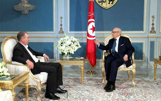 Essebsi reçoit Noureddine Taboubi à Carthage