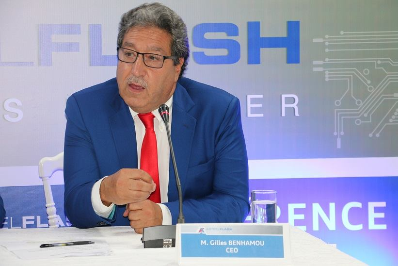 Le PDG d'Asteelflash, Gilles Benhamou