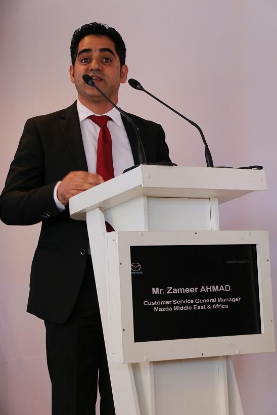 Ahmad, Zameer directeur général et chargé de clientèle mazda Moyen-Orient et Afrique