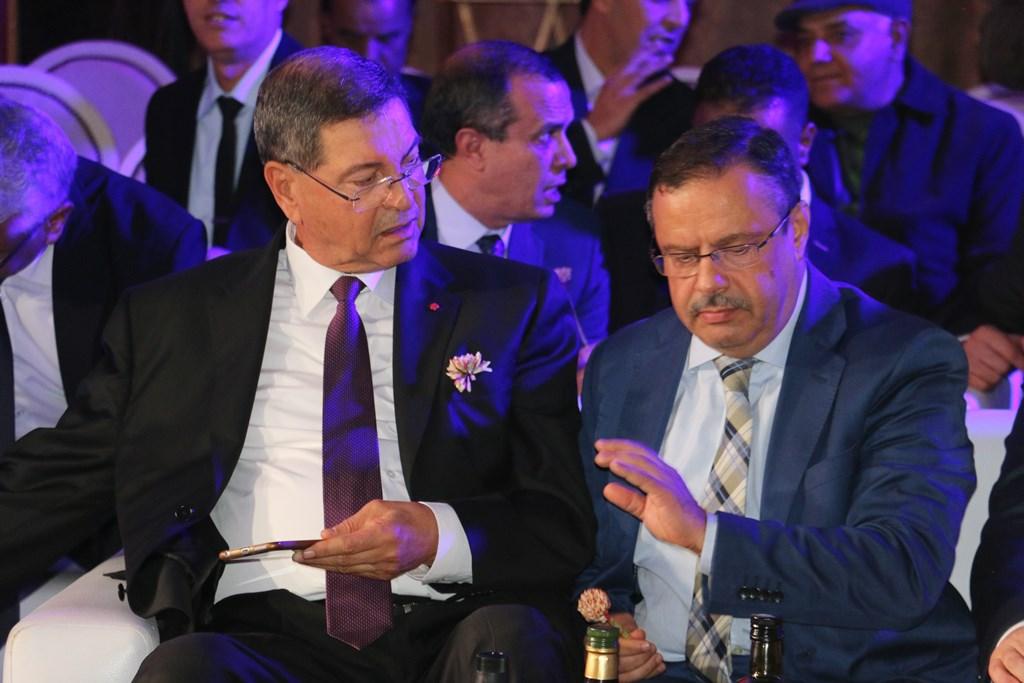 Habib Essid, ancien chef du gouvernement et Samir Bettaieb, ministre de l'Agriculture