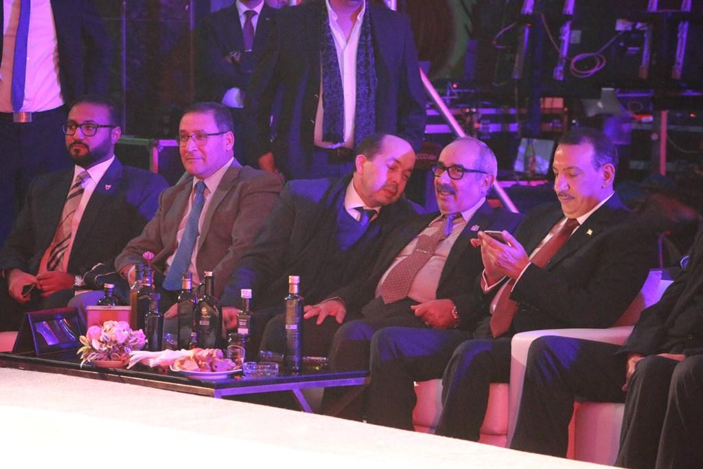 Abdellatif Hmam, directeur de l'ENA entouré de diplomates et autres personnalités