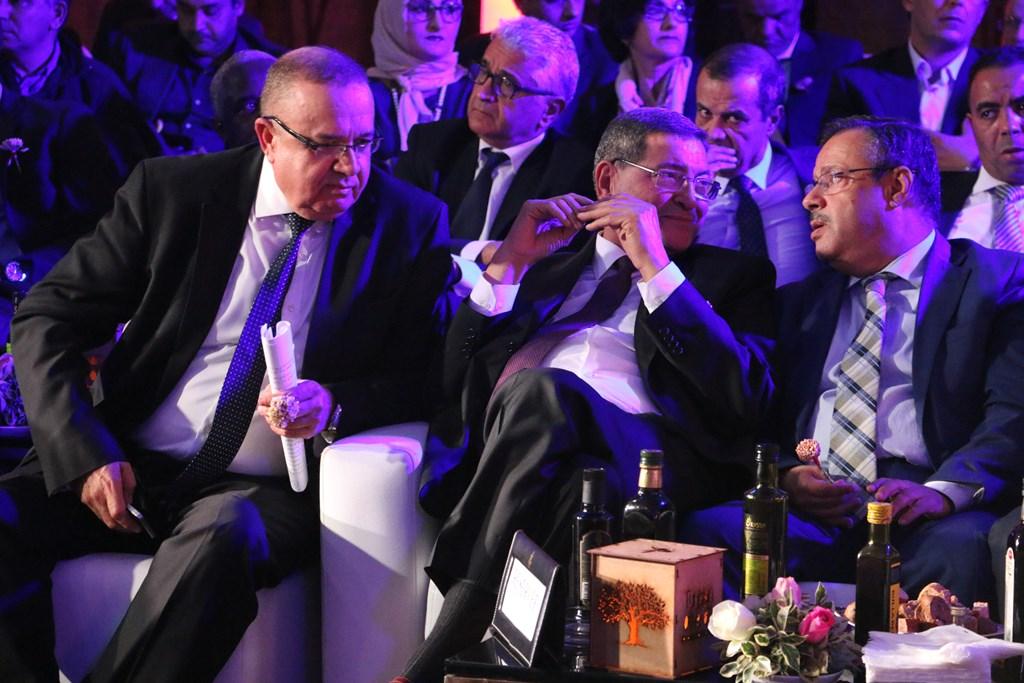 Abdessalem Loued,Président de la Chambre Syndicale des Exportateurs d'Huile d'Olive, Habib Essid, ancien chef du gouvernement et Samir Bettaieb, ministre de l'Agriculture