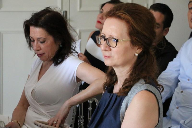 Rym Belajouza,  secrétaire générale de la FTH et  Dora Milad, trésorière de la FTH