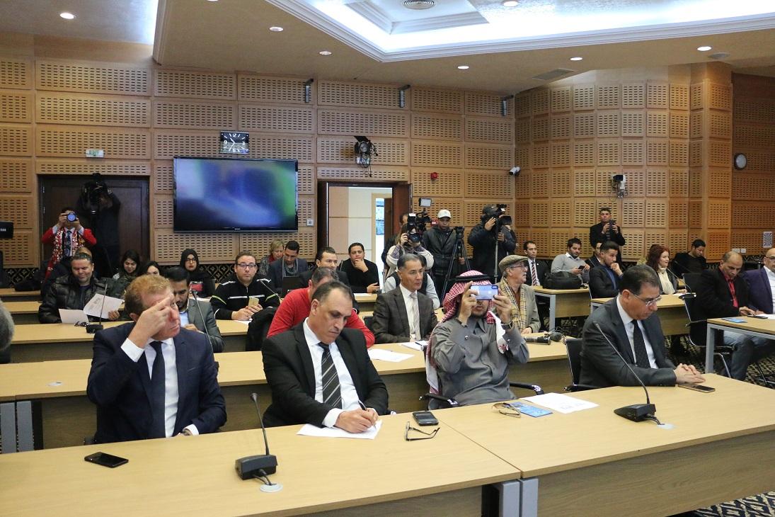 Des représentants de l'Arabie Saoudite, de l'Egypte et du Maroc, ainsi que des personnalités sportives médiatiques ont assisté à ce rendez-vous..