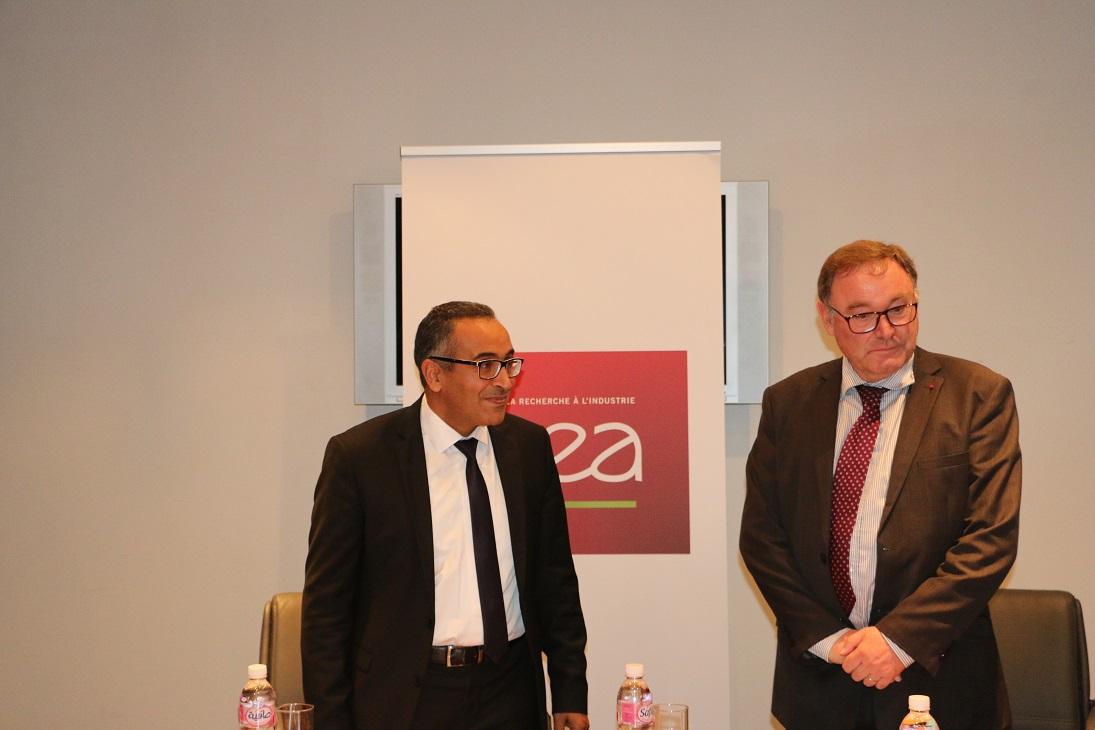 Daniel VERWAERDE, Administrateur Général du CEA et Khalil AMIRI, Secrétaire d'Etat auprès du ministre de l'enseignement supérieur et de la recherche scientifique