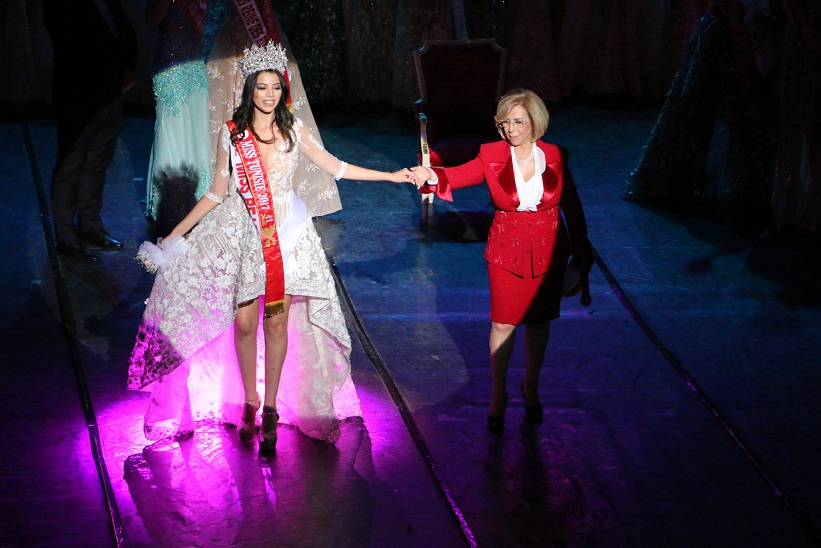 Haifa Ghedir miss Tunisie 2017 et Aida Antar présidente par l'association Tej, organisatrice de Miss Tunisie