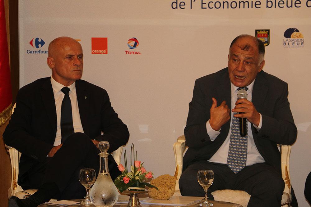 Néji Jalloul, directeur général de l'ITES et Olivier Poivre d'Arvor, Ambassadeur de France en Tunisie