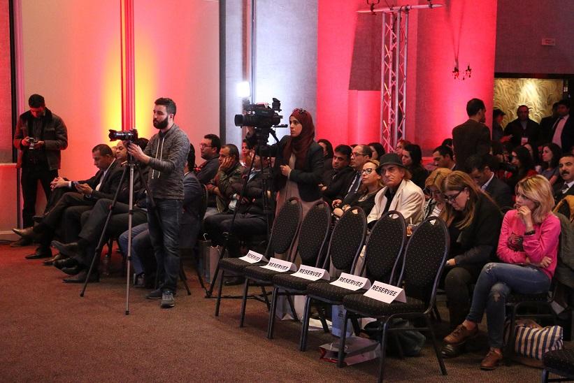 Vue de la conférence de presse