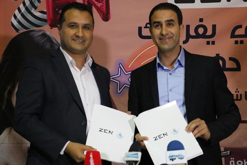 Seifeddine Chibani, Directeur de l'association La Rose de l'Espoir et Ilyes Zouari, Directeur Général ZEN
