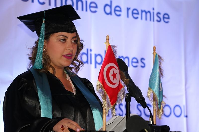 Dorra Ben Turkia, Major de promotion des diplômés
