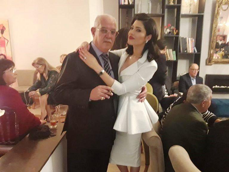 Maram Ben Aziza et son père l'ancien footballeur internationnal Raouf Ben Aziza