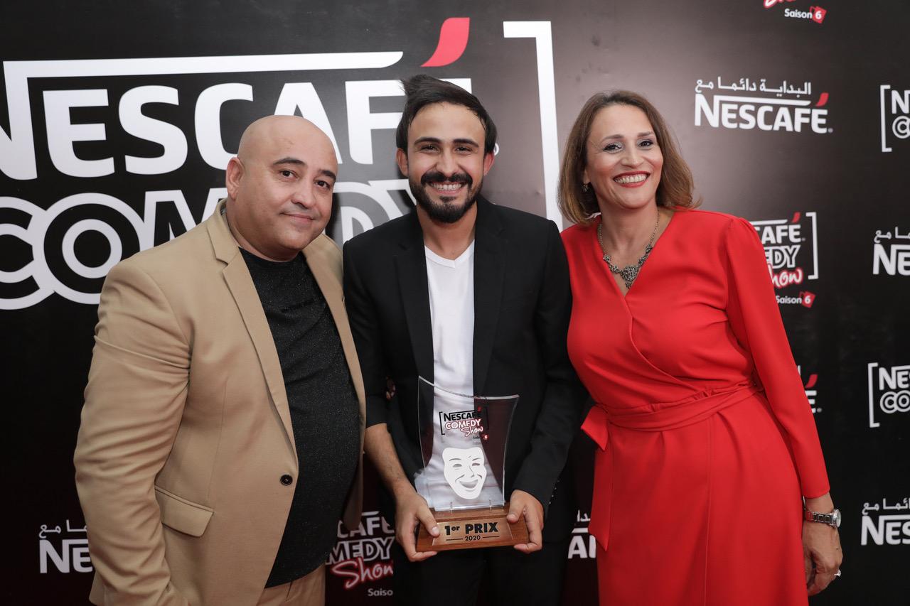 Mohamed Baraket  entouré de  Monia Miledi Maâref et Jaafar Guesmi