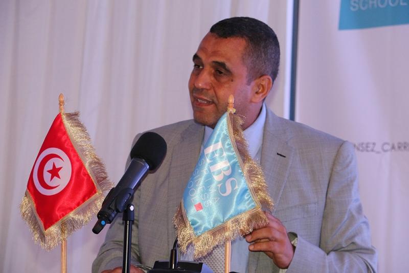 Mr Jameleddine Gharbi, inivité d'honneur de la cérémonie