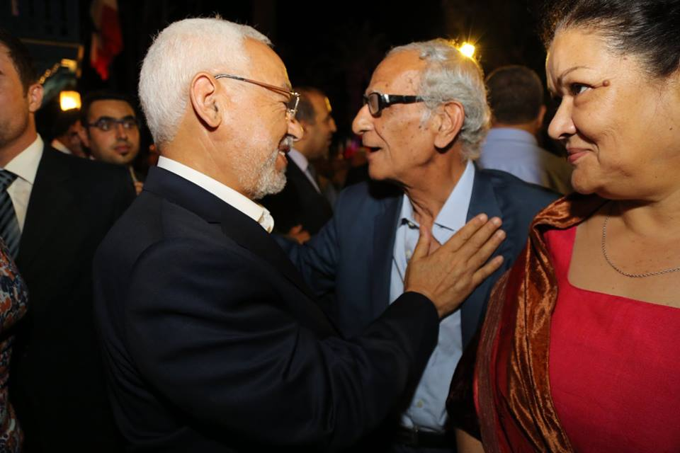Rached Gannouchi avec Youssef Seddik