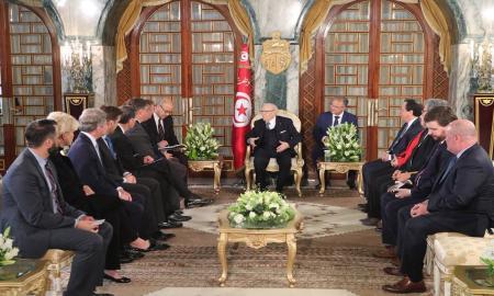 Béji Caïd Essebsi reçoit une délégation du Congrès américain
