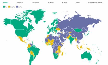 Freedom House : la Tunisie seul pays « libre » dans le monde arabe