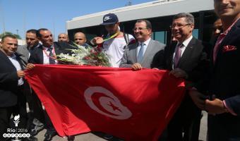 Rio 2016: Retour en grande pompe de la délégation tunisienne (En photos)