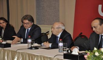 En photos, Béji Caïd Essebsi rencontre le conseil de la FTAV