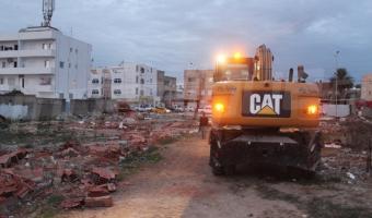 Ariana : Démolition de bâtiments construits sur un terrain de l'Etat