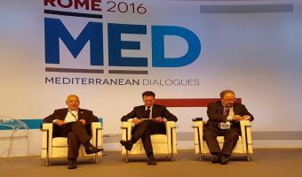 A Rome, Rached Ghannouchi participe au forum des Dialogues Méditerranéens