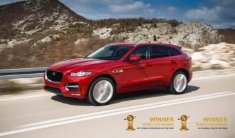La Jaguar F-Pace élue voiture de l année et plus belle voiture du monde 2017
