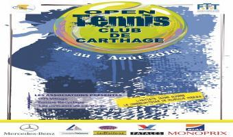 Tournoi national : Open du Tennis club de Carthage le 1er Août