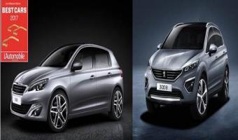 Les Peugeot 308 et 3008 remportent le prix Best Cars 2017