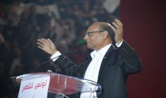 En photos, meeting populaire de Moncef Marzouki à la coupole d'El Menzah