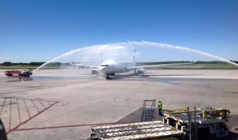 Arrivée du premier vol de Tunisair à Montréal