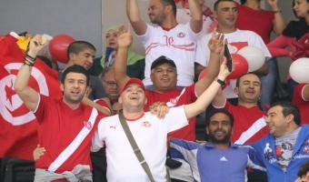 Reportage photos du match Tunisie-Iran