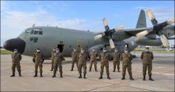 Un avion militaire équipé d'un hôpital et d'un labo mobile déployé à El Hamma