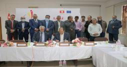 Signature du contrat de subvention pour le financement du projet collaboratif chaîne de valeurs « Pistache », à Gafsa, dans le cadre du Programme IRADA