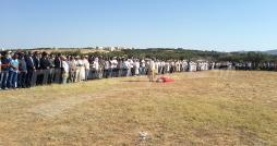Enterrement du lieutenant Mejdi Hajlaoui à Sidi Bouzid